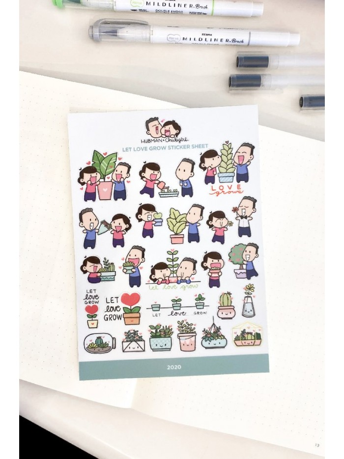 Let Love Grow - Stickers