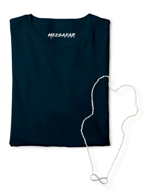 Maanaadu Infinity Chain + Solid Half sleeve T-shir...