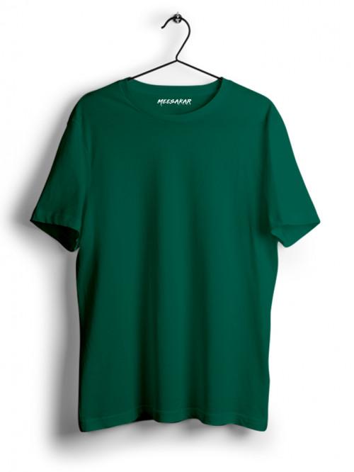 Half Sleeve : Bottle Green