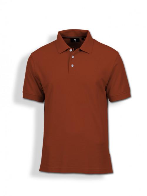 Polo Tee : Brick Red