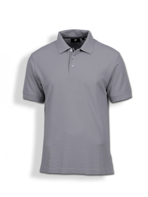 Polo Tee : Grey Melange