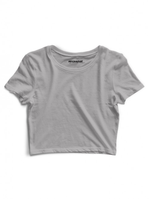Crop Top : Grey Melange