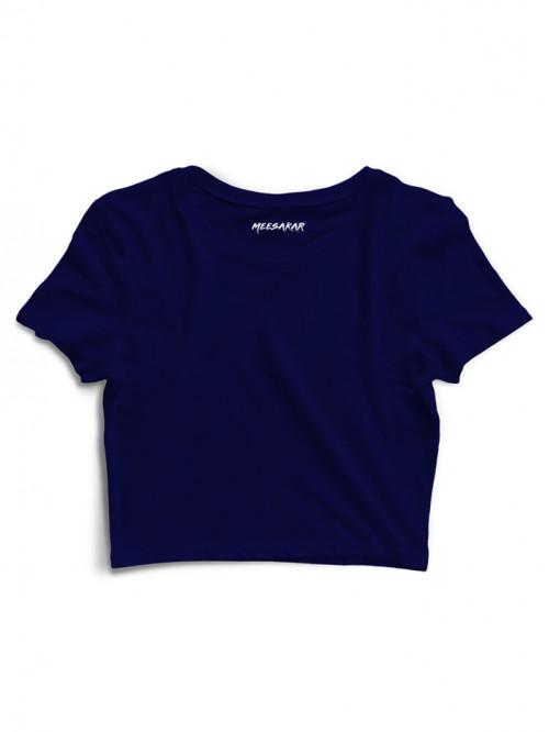Crop Top : Navy Blue