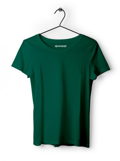 Women's Half Sleeve : Bottle Green