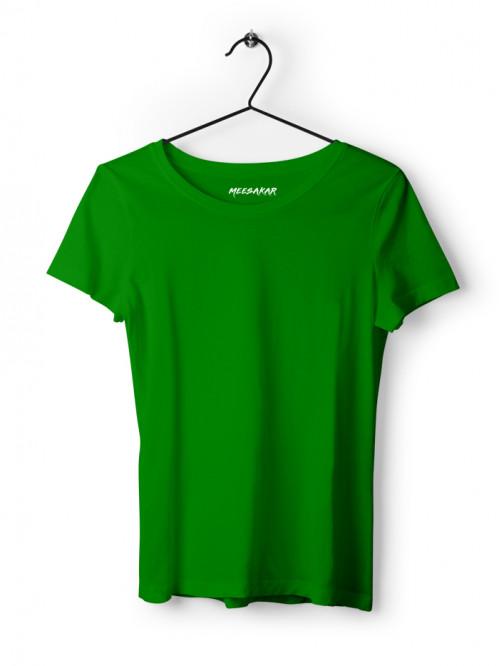 Women's Half Sleeve : Flag Green
