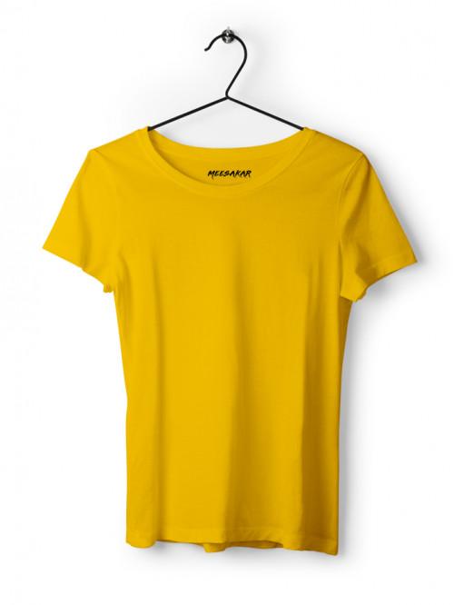 Women's Half Sleeve : Golden Yellow
