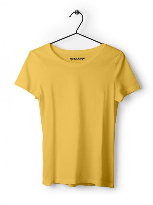 Women's Half Sleeve : Light Yellow