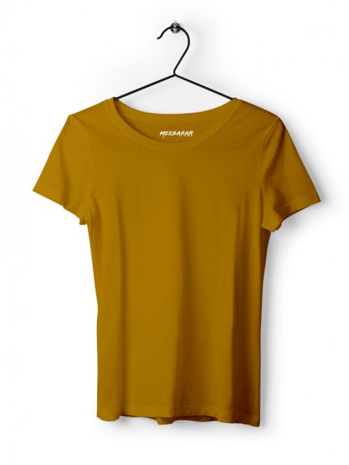 Women's Half Sleeve : Mustard Yellow