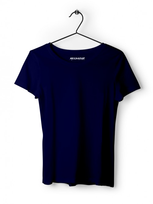 Women's Half Sleeve : Navy Blue
