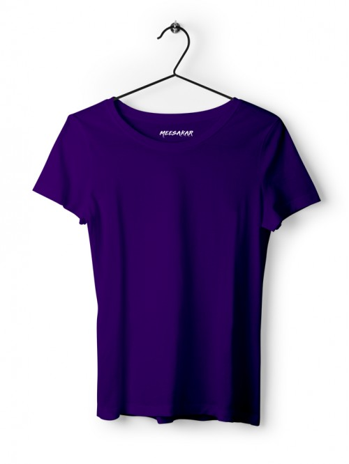 Women's Half Sleeve : Purple
