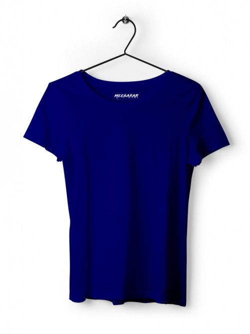 Women's Half Sleeve : Royal Blue