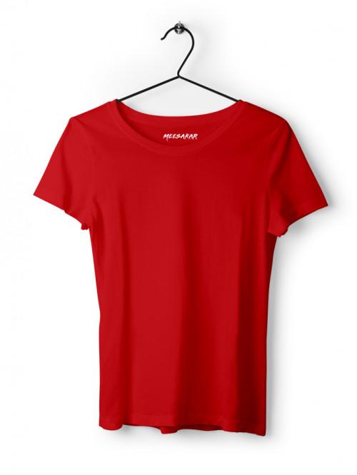 Women's Half Sleeve : Red