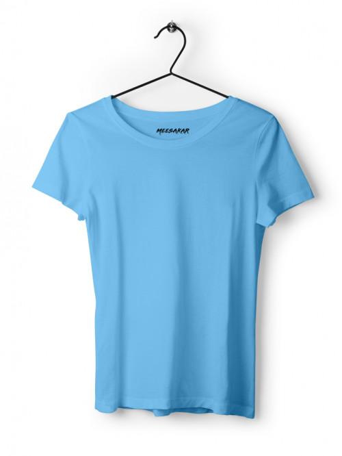 Women's Half Sleeve : Sky Blue