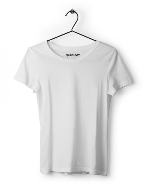 Women's Half Sleeve : White